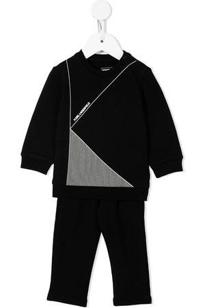 Karl Lagerfeld Logo-print cotton trouser set