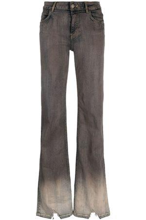 Pinko Women Flares - Distressed-finish flared-leg jeans - Grey
