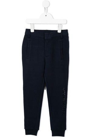 Karl Lagerfeld Boys Straight Leg Pants - Logo-embossed straight-leg trousers