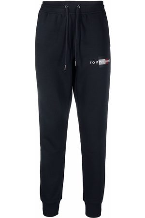 Tommy Hilfiger Men Sweatpants - Logo-print slim-fit track pants