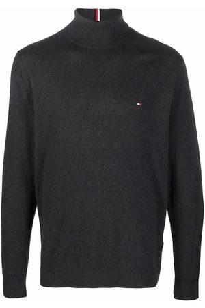 Tommy Hilfiger Men Turtlenecks - Embroidered-logo roll-neck jumper - Grey