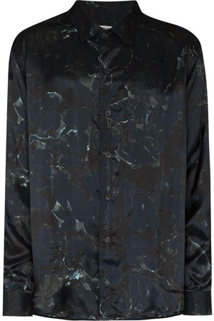 TOM WOOD Men Long sleeves - Camouflage-print long-sleeve shirt