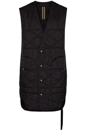 Rick Owens Men Gilets - Quilted Lined elongated gliet