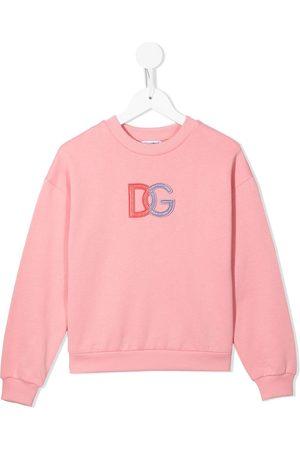 Dolce & Gabbana Boys Hoodies - Embroidered logo cotton sweatshirt
