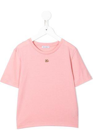 Dolce & Gabbana Boys T-shirts - Logo plaque cotton T-shirt