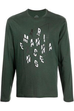Armani Men Long Sleeve - Logo-print long-sleeve T-shirt