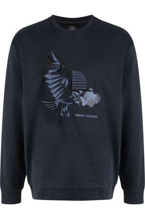 Armani Men Sweatshirts - Eagle-print sweatshirt