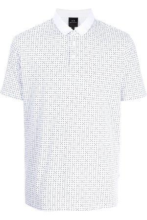 Armani Motif-print polo shirt