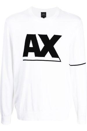 Armani Men Long Sleeve - Logo-print long-sleeve top