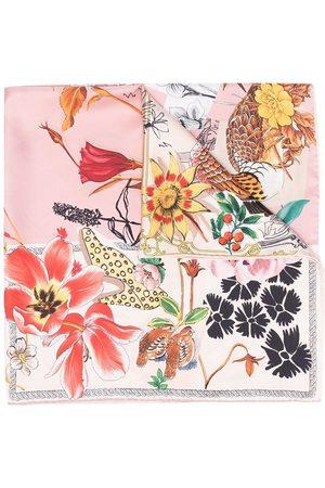 Salvatore Ferragamo Graphic-print silk scarf