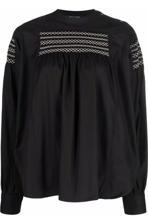 SOFIE D'HOORE Smocked flannel shirt