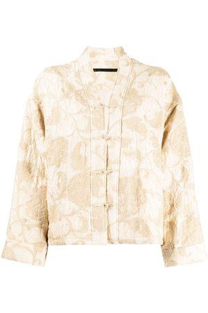 Muller Of Yoshiokubo Oversized embroidered jacket - Neutrals