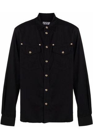 VERSACE Men Shirts - Stud-embellished cotton shirt