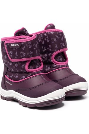 Geox Girls Snow Boots - Monogram touch-strap snow boots