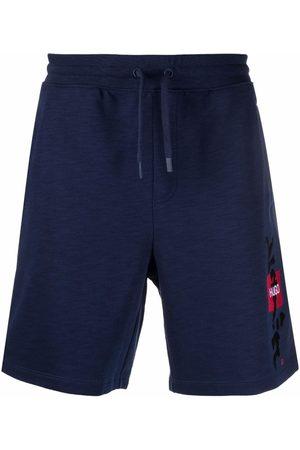 HUGO BOSS Men Sports Shorts - Logo drawstring track shorts