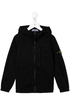 Stone Island Boys Bomber Jackets - Logo-patch hooded jacket