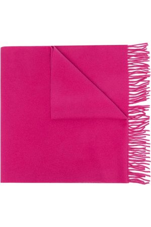 Moncler Women Scarves - Logo-patch fringed-edge scarf