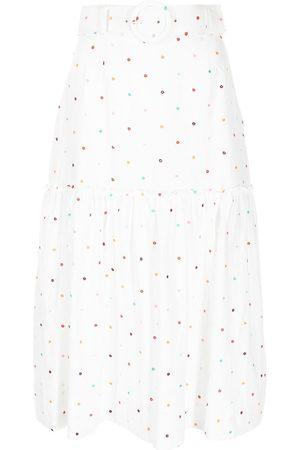 Rebecca Vallance Women Printed Skirts - Spot-print belted skirt