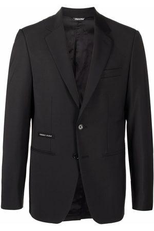 Philipp Plein Men Blazers - Logo patch tailored blazer