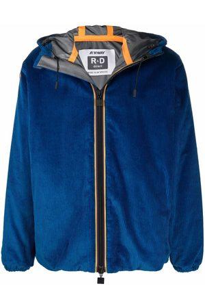 K-WAY R&D Ribbed zip-up coat