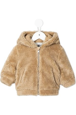 BONTON Bomber Jackets - Faux-fur hooded bomber jacket