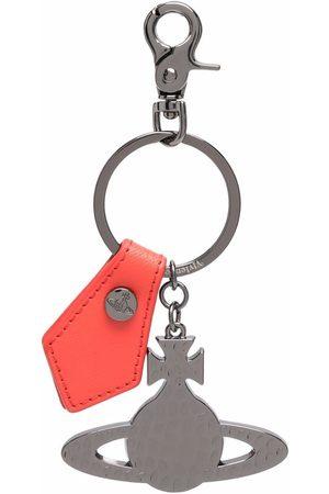 Vivienne Westwood Orb-charm leather keychain