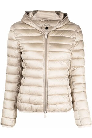 save the duck Women Puffer Jackets - Padded zip-up hooded jacket - Neutrals