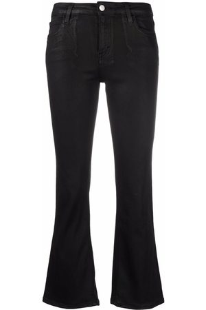 haikure Low-rise flared cropped jeans