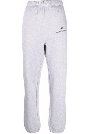 Chiara Ferragni Women Sweatpants - Eye-motif cotton sweatpants - Grey
