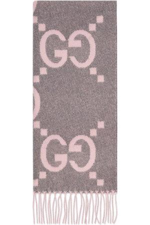 Gucci GG cashmere jacquard scarf - Grey