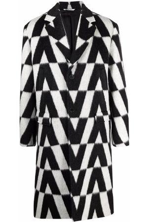 VALENTINO Men Coats - Macro Optical print coat