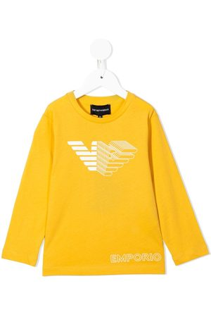 Emporio Armani Long-sleeved logo print T-shirt
