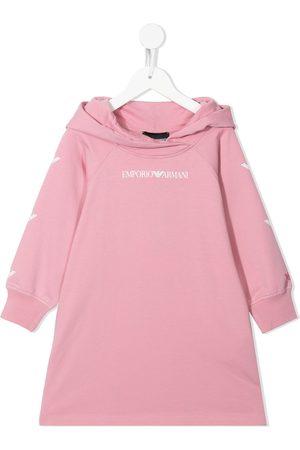 Emporio Armani Logo-print hooded jumper dress