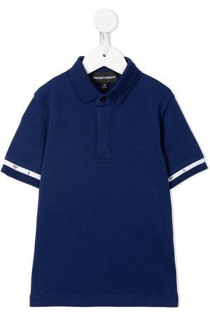 Emporio Armani Solid border polo shirt