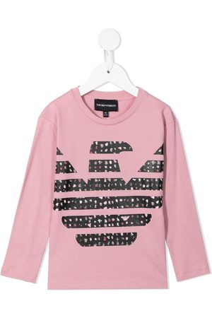 Emporio Armani Long Sleeve - Logo-print long-sleeved T-shirt