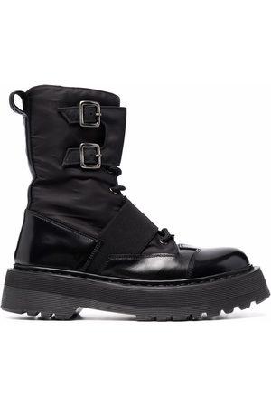 Premiata Women Lace-up Boots - Double-buckle lace-up boots