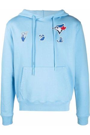 OFF-WHITE Men Hoodies - X MBL Jays logo-print hoodie