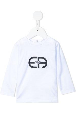 Emporio Armani Logo-print long-sleeved T-shirt