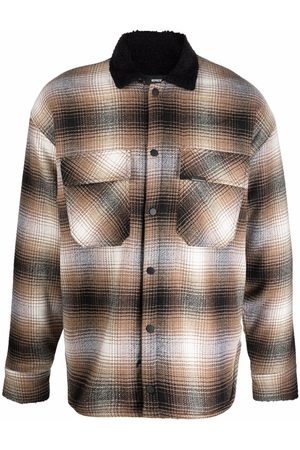 Represent Men Jackets - Gradient check-print shirt jacket