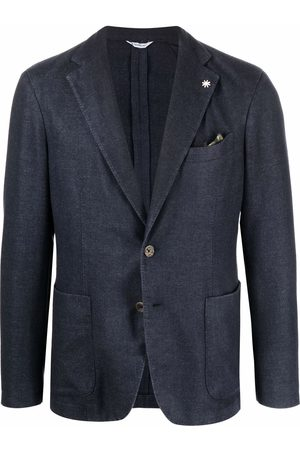 Manuel Ritz Men Blazers - Lapel-pin single-breasted blazer