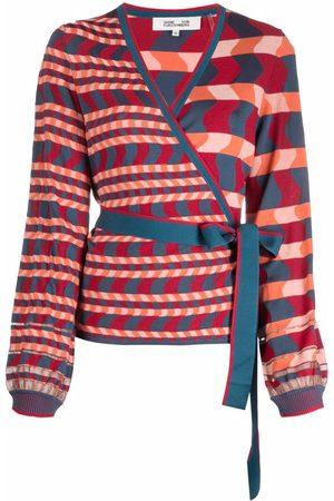 Diane von Furstenberg Multi-way stripe pattern cardigan