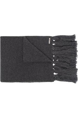 Les Hommes Men Scarves - Fringe-detail wool scarf - Grey