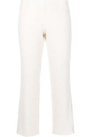 JOHN ELLIOTT Ribbed cropped trousers - Neutrals