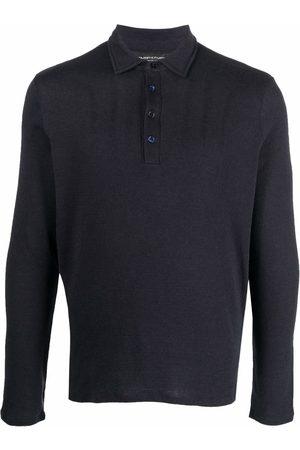 Majestic Fine-knit long-sleeved polo shirt