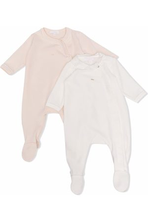 Chloé Two-pack embroidered-logo pajamas