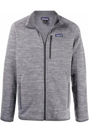 Patagonia Men Fleece Jackets - Logo-patch fleece jacket - Grey