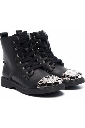 Liu Jo Rain Boots - Metallic-toecap lace-up boots