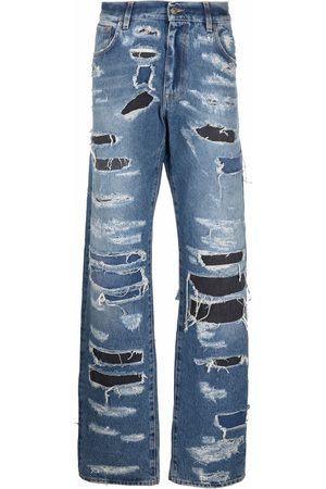 424 FAIRFAX Men Straight - Distressed straight-leg jeans