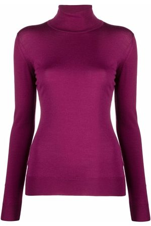 JOHN SMEDLEY Women Turtlenecks - Roll-neck knitted jumper