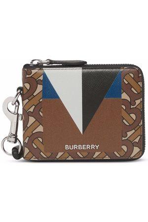 Burberry Men Wallets - Monogram print zip-around wallet